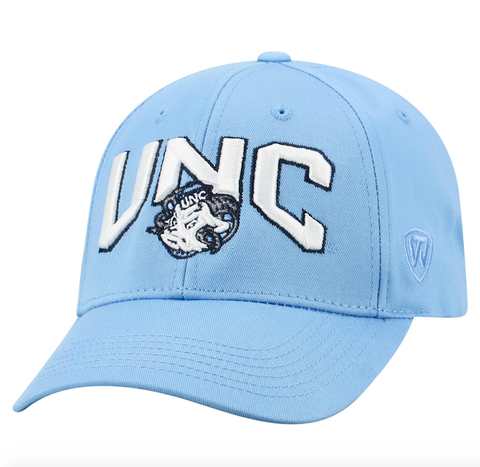 North Carolina Tar Heels Top of the World Overarch Adjustable Team Color Hat