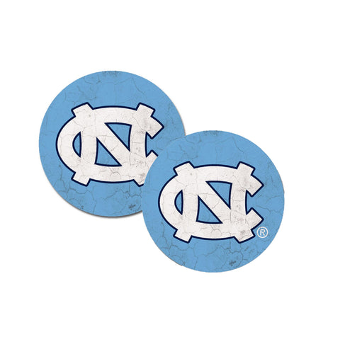 UNC Tar Heels Car Coasters 2-Pack