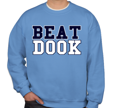 Beat Dook Crewneck Sweatshirt in Carolina Blue