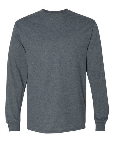 Dark Grey Long Sleeve T-Shirt Blank
