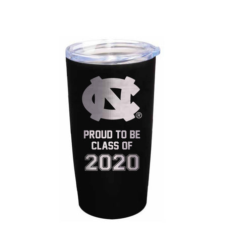 UNC Proud to be Class of 2020 Tumbler Stainless Steel 20 Oz - Black