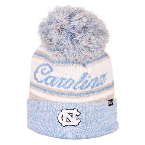 North Carolina Tar Heels Womens Knit Hat with Jumbo Pom