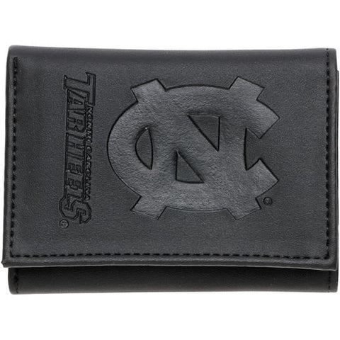 Black Leather Carolina Trifold Wallet
