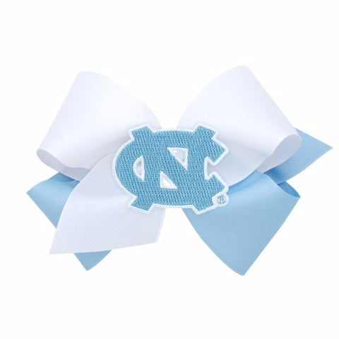 North Carolina Tar Heels Wee Ones Two Tone With Patch Hair Bow