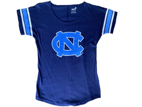 Girls UNC Youth Rugby T-Shirt in Navy and Carolina Blue