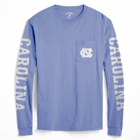 McPherson by League - Carolina Blue UNC Pocket Long Sleeve T-Shirt