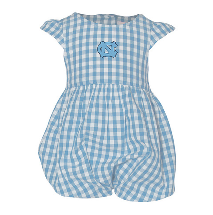 North Carolina Tar Heels Garb Gigi Infant Girls Gingham Woven Dress Carolina Blue