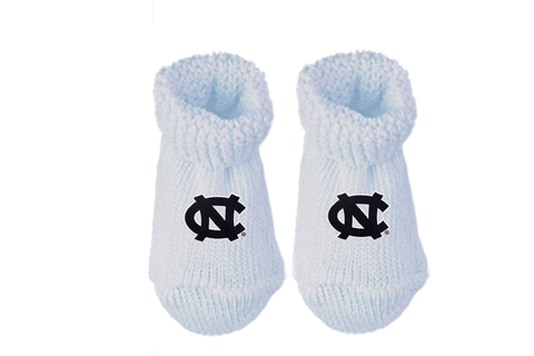 North Carolina Tar Heels Two Feet Ahead UNC New Born Booties Socks Gift Box