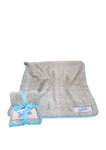 UNC Frosty Fleece Blanket in Grey Sherpa