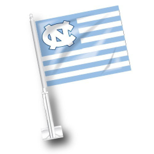 North Carolina Tar Heels American-Carolina Car Flag