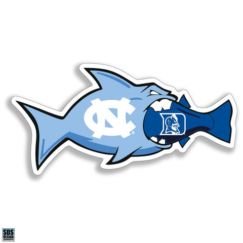 North Carolina Tar Heels Fish Eating Duke Vinyl Decal
