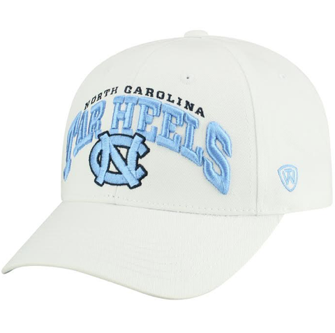 North Carolina Tar Heels Top of the World White Adjustable Hat