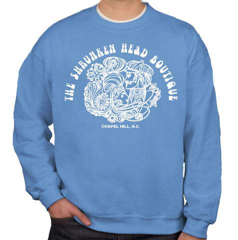 Carolina Blue Shrunken Head Boutique Crewneck Sweatshirt