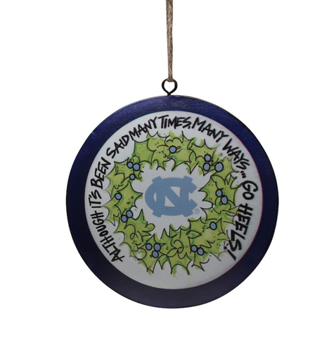 North Carolina Tar Heels Magnolia Lane Metal Ornament