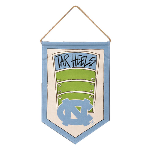 North Carolina Tar Heels Canvas Football Banner