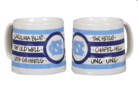 North Carolina Tar Heels Magnolia Lane Striped Logo Mug