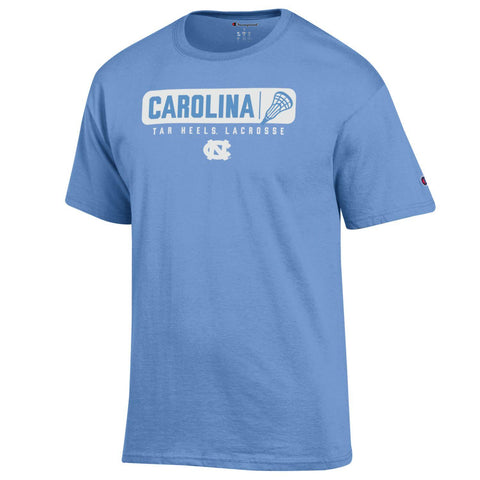 Carolina Tar Heels Lacrosse T-Shirt Light Blue Champion Brand