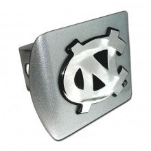 UNC Hitch Cover in Silver