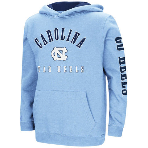 North Carolina Tar Heels Colosseum Youth Berminator Pullover Hoodie - Carolina Blue - Front