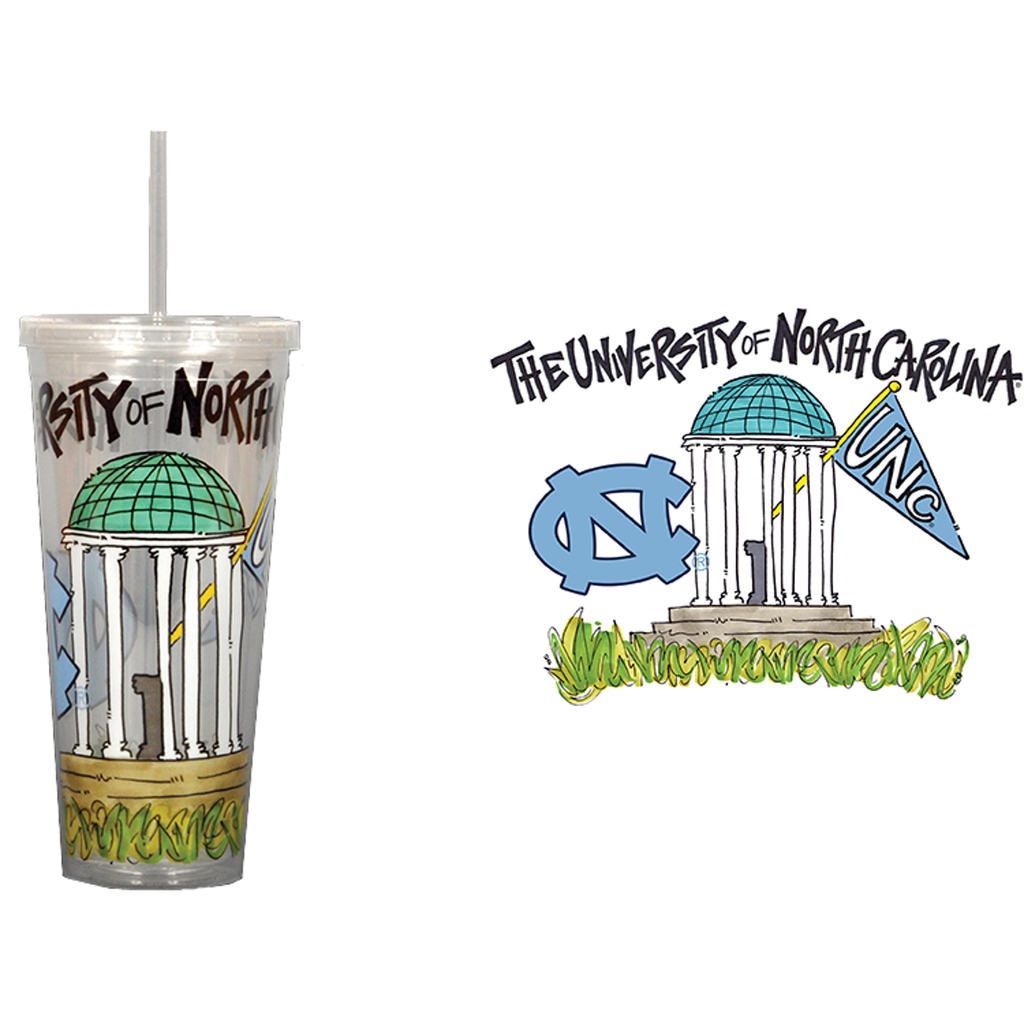 North Carolina Tar Heels Old Well Tumbler