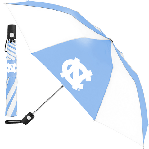 UNC Umbrella - Automatic Carolina Blue and White Umbrella