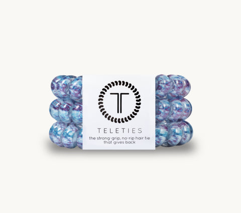 TELETIES Trippy Hippie Large Corded Hair Ties