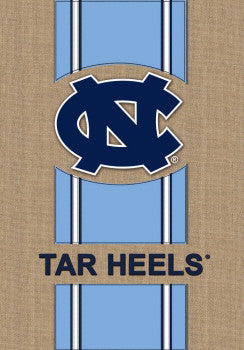 Burlap Carolina Tar Heels House Flag