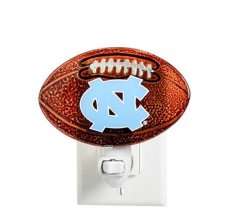 UNC Tar Heels Evergreen Football- Glass Night Light
