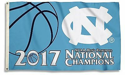 NCAA  2017 UNC Basketball National Champions  3x5 Flag