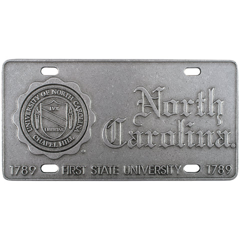 Pewter North Carolina Auto Tag