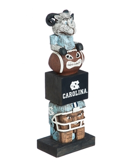 North Carolina Tar Heel Evergreen Tiki Totem