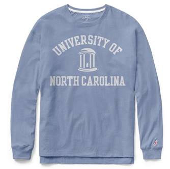 Womens North Carolina Tar Heels League Clothesline Cotton UNC Long Sleeve Shirt