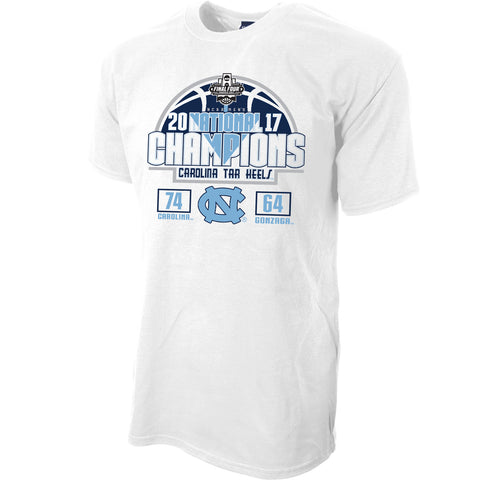 North Carolina Tar Heels 2017 NCAA Men's Basketball National Champions Spin It T-Shirt - White