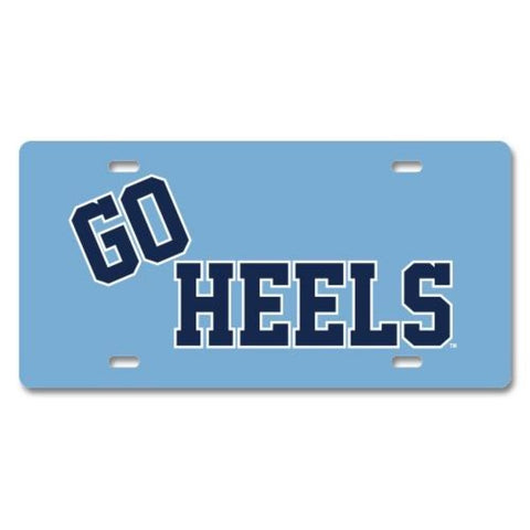"North Carolina Tar Heels JayMac Custom ""GO HEELS"" Front License Plate"
