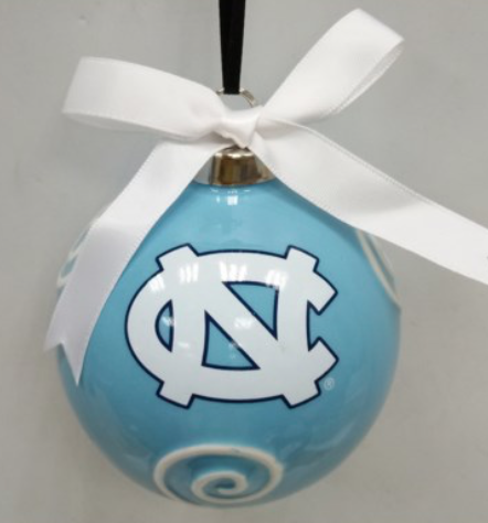 North Carolina Tar Heels Ceramic Logo Ornament