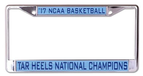 North Carolina Tar Heels NCAA 2017 National License Plate Frame