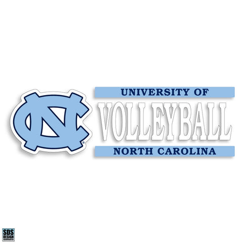 North Carolina Tar Heels SDS University of North Carolina Volleyball Decal