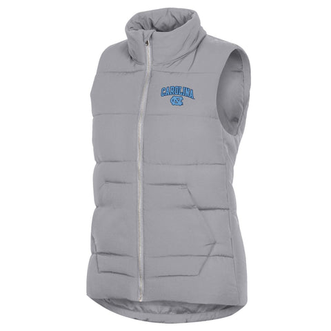 Puffer Vest from Champion - Grey Womens UNC Puffer Vest