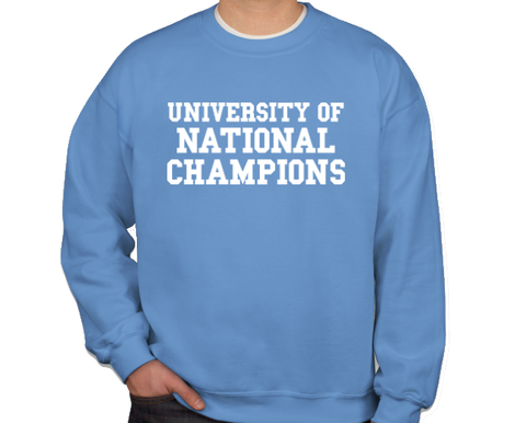 SHB Carolina Blue University of National Champions Crewneck Sweatshirt