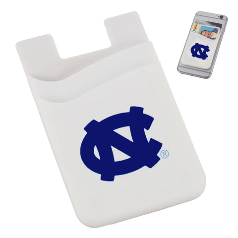 UNC Phone Wallet Card Holder with 2 Slots and Metallic Dark Blue Logo