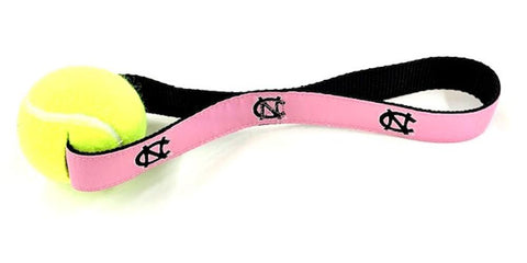 UNC Pink Dog Toy - Tennis Ball with Strap