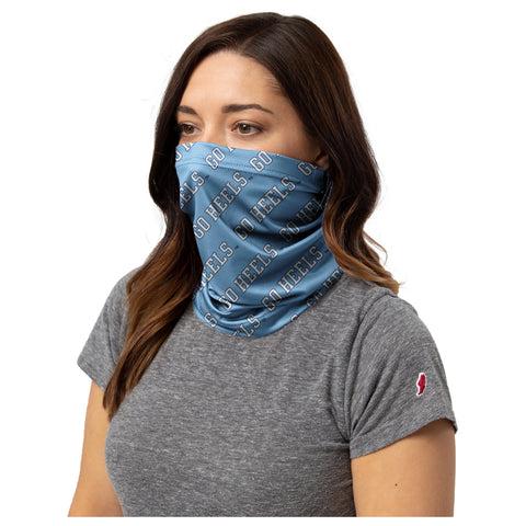 UNC GO HEELS Neck Gaiter Face Covering
