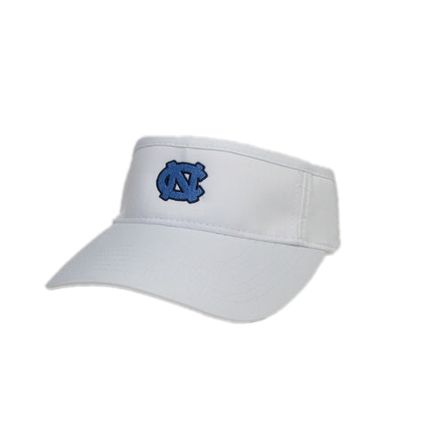 UNC Visor White  Athletic Cool Fit Visor with Mini UNC Logo