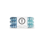 Small TELETIES Blue Saphire Corded Hair Ties