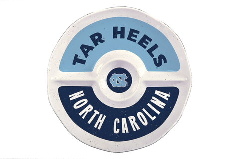 North Carolina Tar Heels Magnolia Lane Melamine UNC Chips and Dip Tray