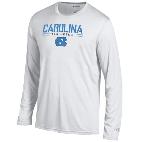Dry Fit Athletic White Champion Carolina Long Sleeve T-Shirt