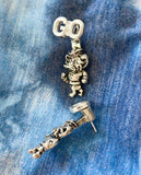 UNC Evie Earrings with Hanging Rameses Mascot