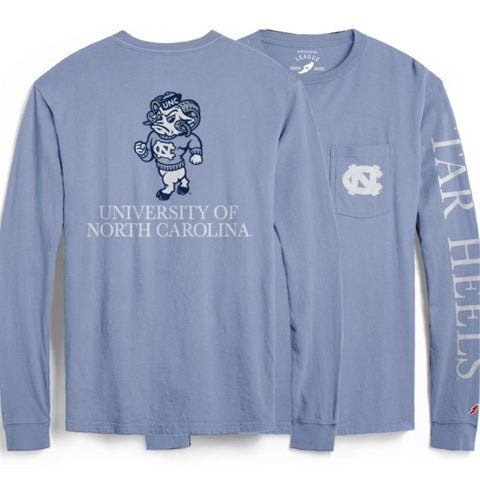 UNC Pocket Long Sleeve - Carolina Blue