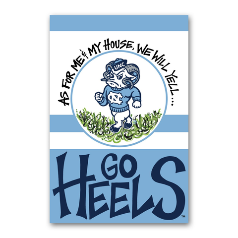 North Carolina Tar Heels Magnolia Lane As for Me and My House Garden Flag
