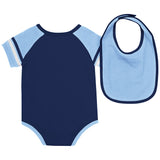 North Carolina Tar Heels Baby Roll-Out Onesie and Bib Set - Back